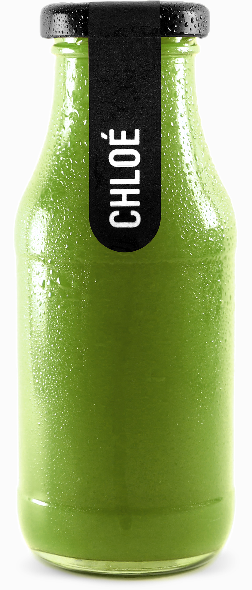 Chloe – Bio Green Smoothie in 270ml Glasflasche.