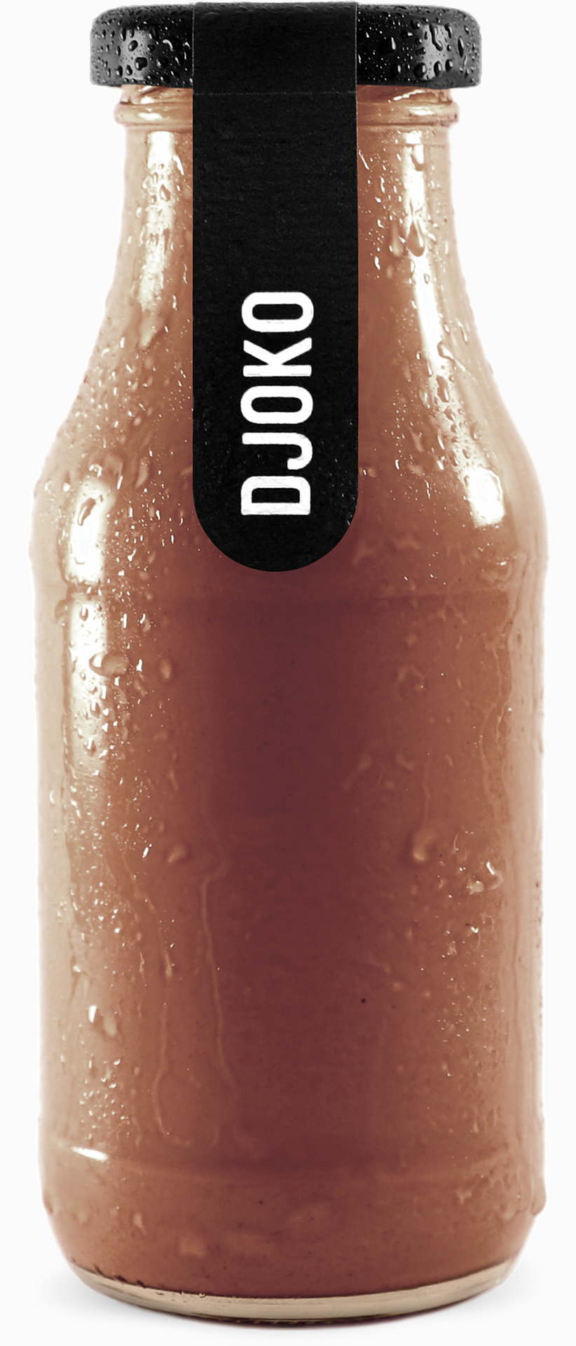 Djoko – Bio Mandel-/Cashewmilch mit Raw Cacao in 270ml Glasflasche.